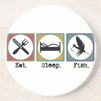 Eat Sleep Fishing Trout Drink Coaster