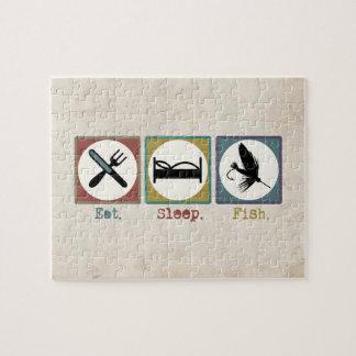 Eat Sleep Fishing Trout Jigsaw Puzzle