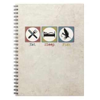 Eat Sleep Fishing Trout Notebook