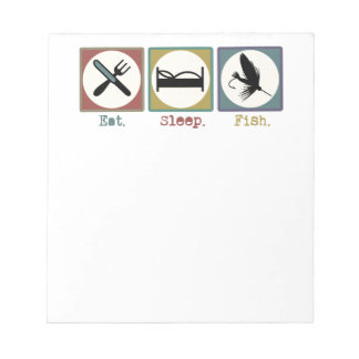Eat Sleep Fishing Trout Notepad