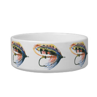Eat Sleep Fishing Trout Cat Food Bowl