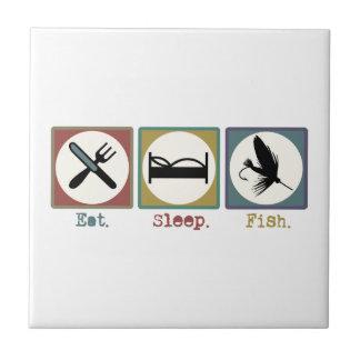 Eat Sleep Fishing Trout Tile