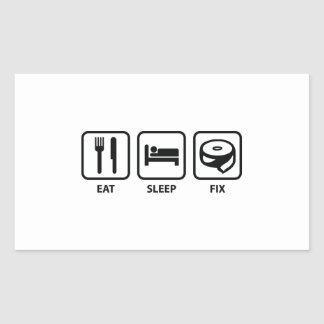 Eat Sleep Fix Rectangular Sticker