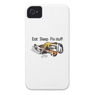 EAT SLEEP FIX STUFF iPhone 4 Case-Mate CASES