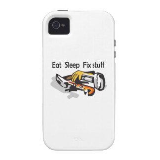 EAT SLEEP FIX STUFF iPhone 4 COVERS