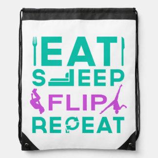 Eat Sleep Flip Repeat Gymnastics Backpack