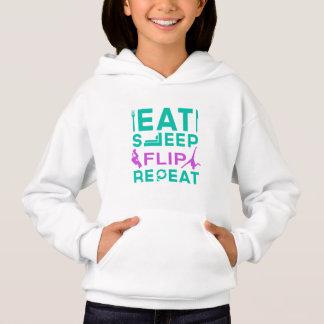 Eat, Sleep, Flip, Repeat Gymnastics Gifts Hoodie