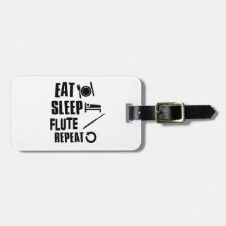 Eat Sleep Flute Bag Tag