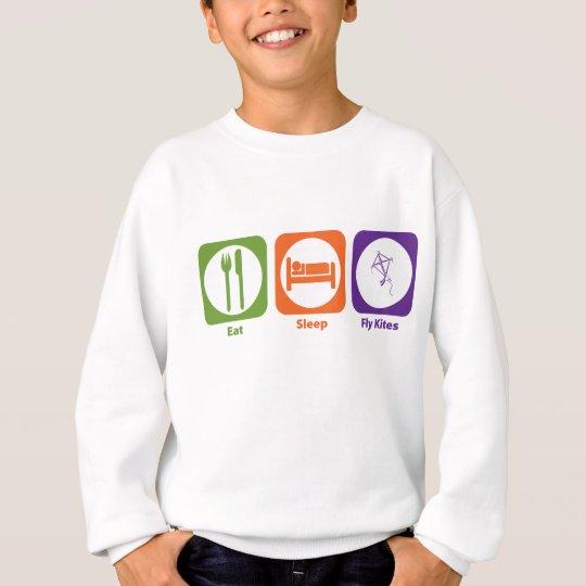 Eat Sleep Fly Kites Sweatshirt