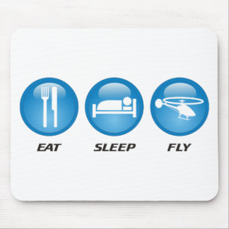 Eat Sleep Fly Mouse Pad