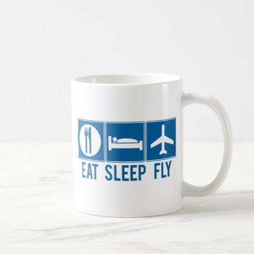 Eat Sleep Fly Mugs