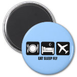 eat sleep fly refrigerator magnets