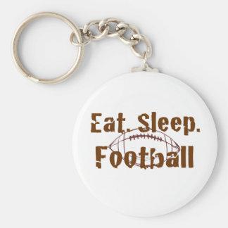 Eat.Sleep.Football 08 Llavero Redondo Tipo Pin