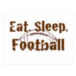 Eat.Sleep.Football 08 Postcard