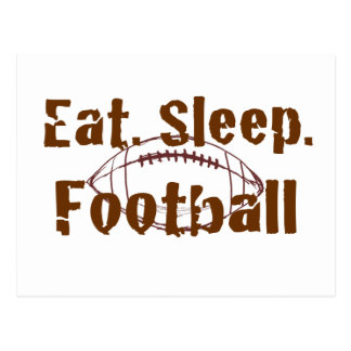 Eat Sleep Football 08 Post Cards