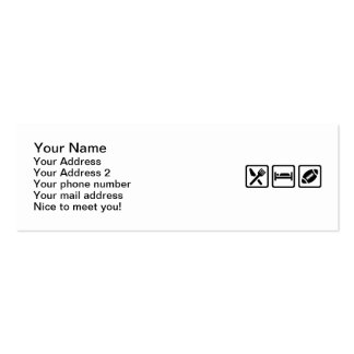 Eat Sleep Football Double-Sided Mini Business Cards (Pack Of 20)