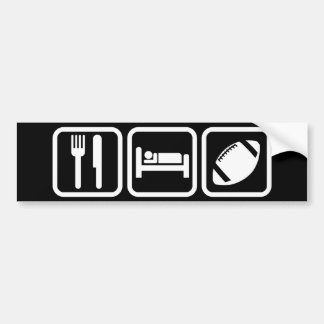 Eat Sleep Football Car Bumper Sticker