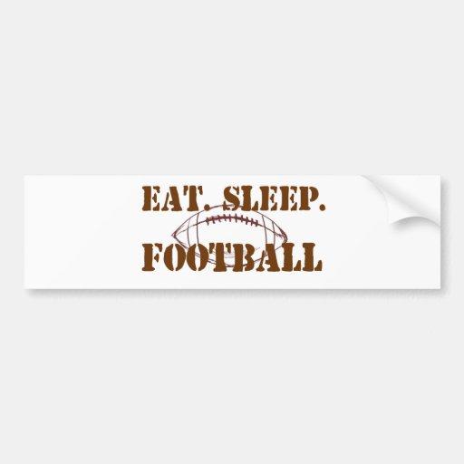 Eat.Sleep.Football Car Bumper Sticker