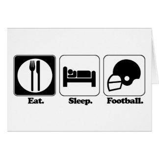 eat sleep football card