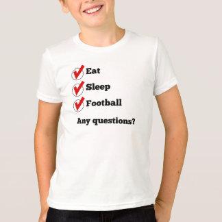 Eat Sleep Football Checklist T-Shirt
