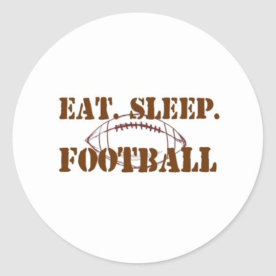 Eat.Sleep.Football Classic Round Sticker