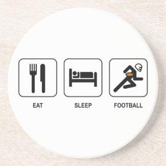 Eat Sleep Football Coaster coaster