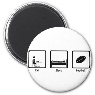 Eat, Sleep, Football - Football Lover 2 Inch Round Magnet