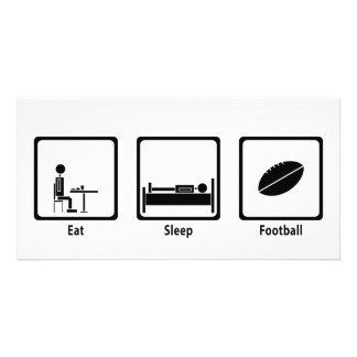 Eat, Sleep, Football - Football Lover Photo Cards