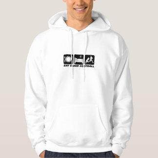 eat sleep football hooded pullover