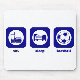Eat. Sleep. Football. Mousepad
