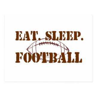 Eat.Sleep.Football Postcard