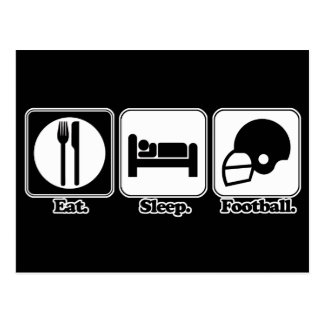 eat sleep football postcard