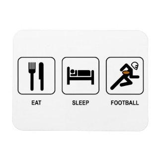 Eat Sleep Football Rectangular Photo Magnet