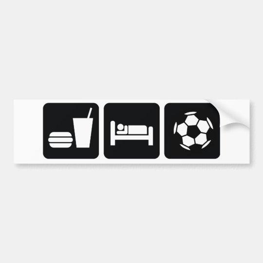 Eat Sleep Football / Soccer Bumper Sticker