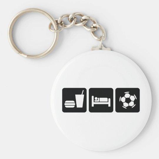 Eat Sleep Football / Soccer Keychain