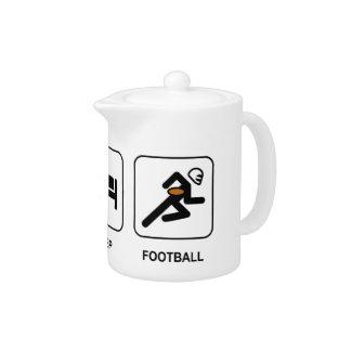 Eat Sleep Football Teapot