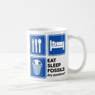 EAT, SLEEP, FOSSILS COFFEE MUG