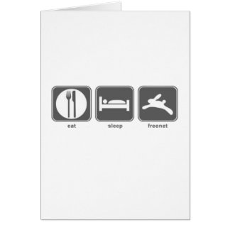 Eat Sleep Freenet Card