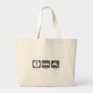 Eat Sleep Freenet Large Tote Bag