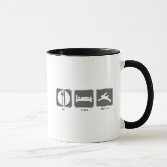 Eat Sleep Freenet Mug