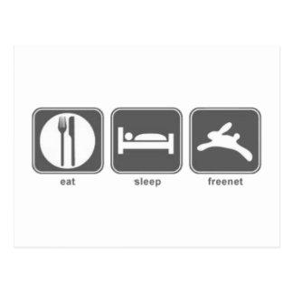 Eat Sleep Freenet Postcard