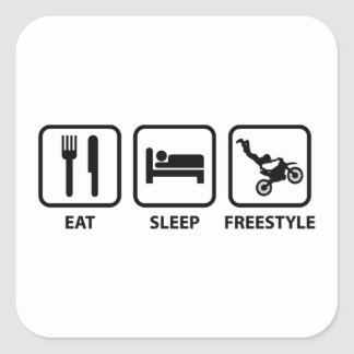 Eat Sleep Freestyle Square Stickers