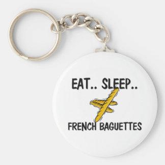 Eat Sleep FRENCH BAGUETTES Key Chain