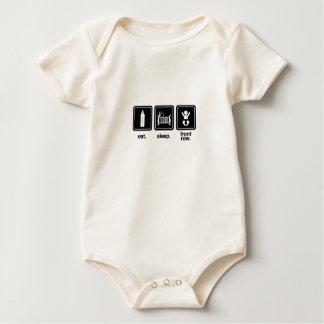 """Eat. Sleep. Front Row."" Baby Baby Bodysuit"