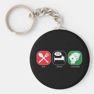Eat Sleep Gamble Keychains