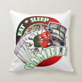 Eat sleep Gamble Pillows