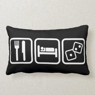 Eat Sleep Gambling Lumbar Pillow