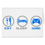 Eat Sleep Game Again - Gamer, geek video games Greeting Card
