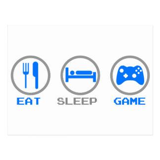 Eat Sleep Game Again - Gamer, geek video games Postcard