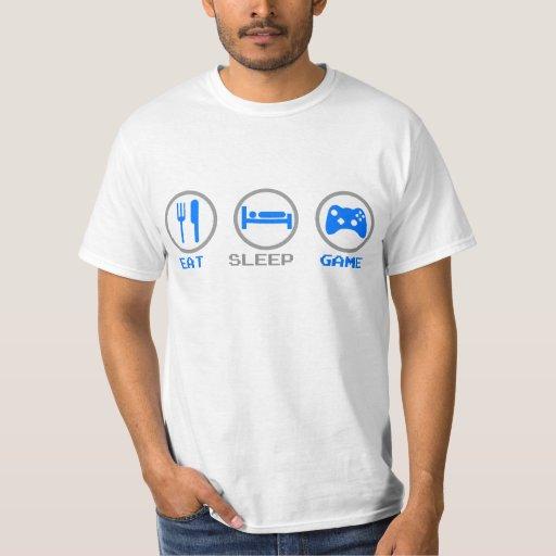 Eat Sleep Game Again - Gamer, geek video games T-shirts